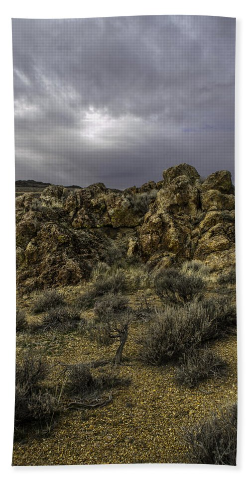 Disaster Peak Road Hand Towel featuring the photograph Nevada Desert Skies by Karen W Meyer
