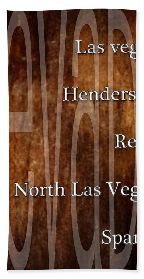 Nevada Hand Towel featuring the digital art Nevada by Marvin Blaine