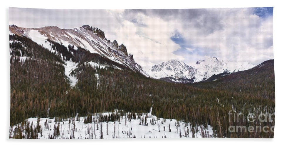 Never Summer Wilderness Bath Sheet featuring the photograph Never Summer Wilderness Area Panorama by James BO Insogna