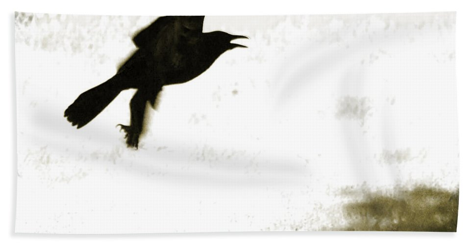 Birds Hand Towel featuring the photograph Nevermore by Roselynne Broussard