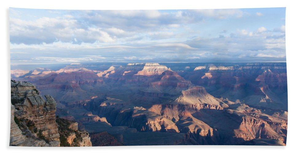 Landscape Bath Sheet featuring the photograph New Day At The Grand Canyon by John M Bailey