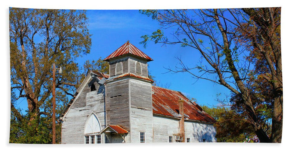 History Hand Towel featuring the photograph New Hope Mb Church Estill Ms by Karen Wagner