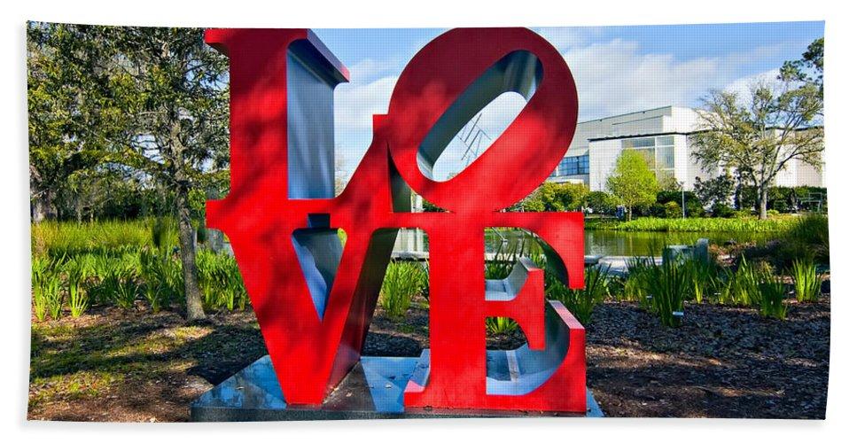 New Orleans Bath Sheet featuring the photograph New Orleans Love by Steve Harrington