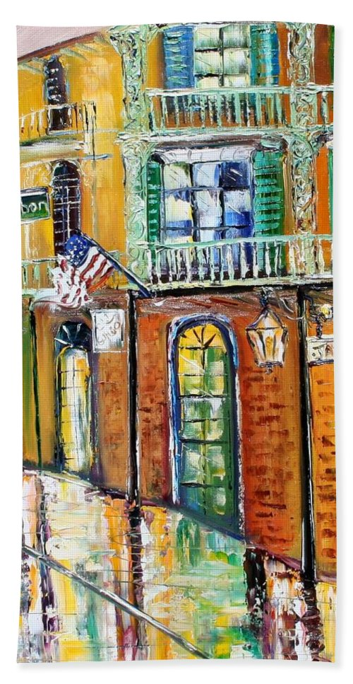 New Orleans Paintings Hand Towel featuring the painting New Orleans Magic by Karen Tarlton