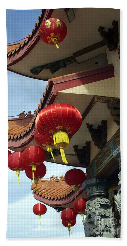 Chinese Hand Towel featuring the photograph New Photographic Art Print For Sale Downtown Chinatown by Toula Mavridou-Messer