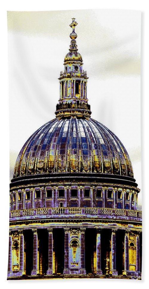 Cathedral Bath Sheet featuring the photograph New Photographic Art Print For Sale  Iconic London St Paul's Cathedral by Toula Mavridou-Messer