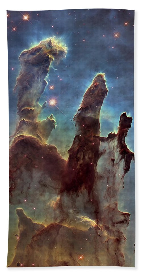 3scape Hand Towel featuring the photograph New Pillars Of Creation Hd Tall by Adam Romanowicz