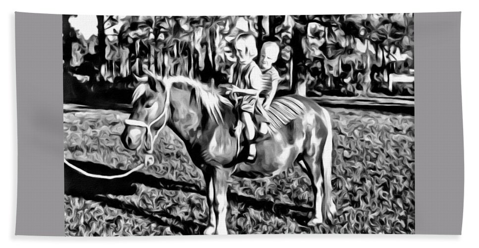 Pony Shetland Kids Bareback Horse Bath Sheet featuring the photograph New Pony For Me by Alice Gipson