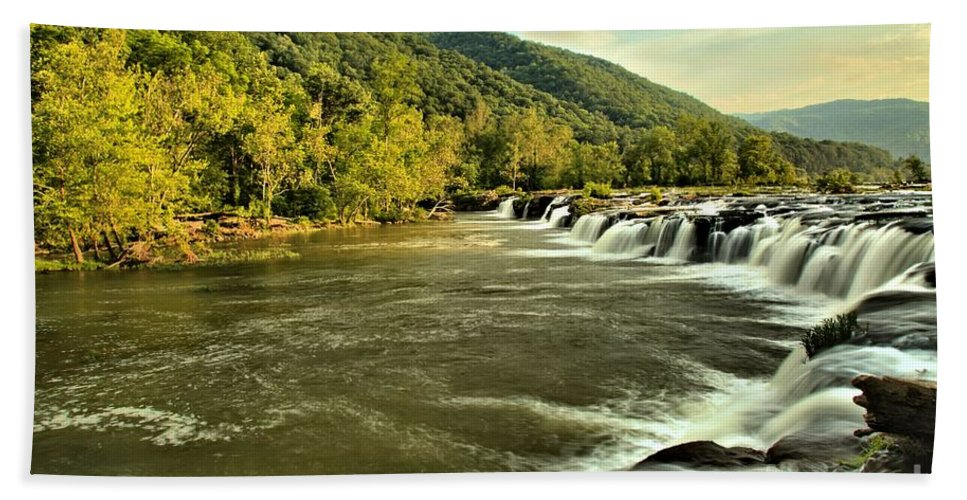 West Virginia Waterfalls Bath Sheet featuring the photograph New River Landscape by Adam Jewell