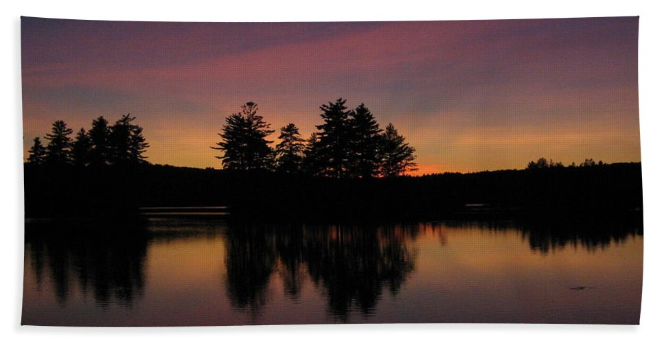 Sunset Hand Towel featuring the photograph Summer Sunset In Nh by Mary Vinagro