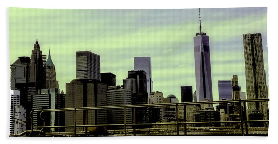 New World Trade Center Hand Towel featuring the photograph New World Trade Center by Madeline Ellis