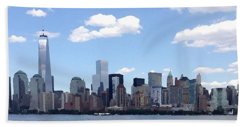 Nyc Bath Sheet featuring the photograph New York City by Michael French