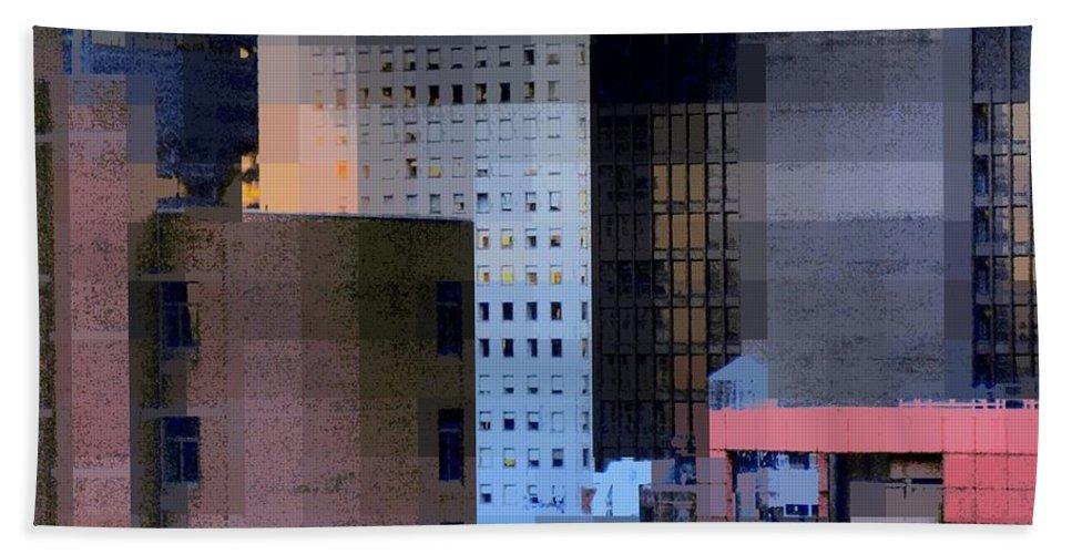 Skyline Bath Sheet featuring the photograph New York City Skyline No. 3 - City Blocks Series by Miriam Danar