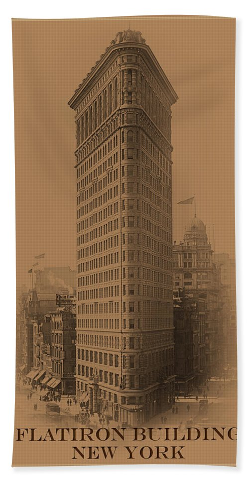 New York Bath Sheet featuring the photograph New York Landmarks 3 by Andrew Fare