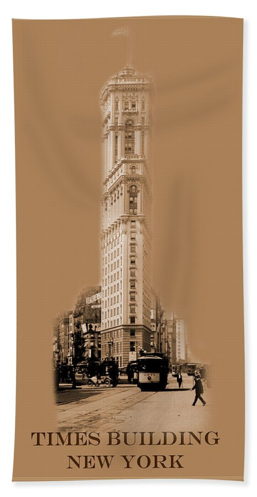 New York Hand Towel featuring the photograph New York Landmarks 4 by Andrew Fare