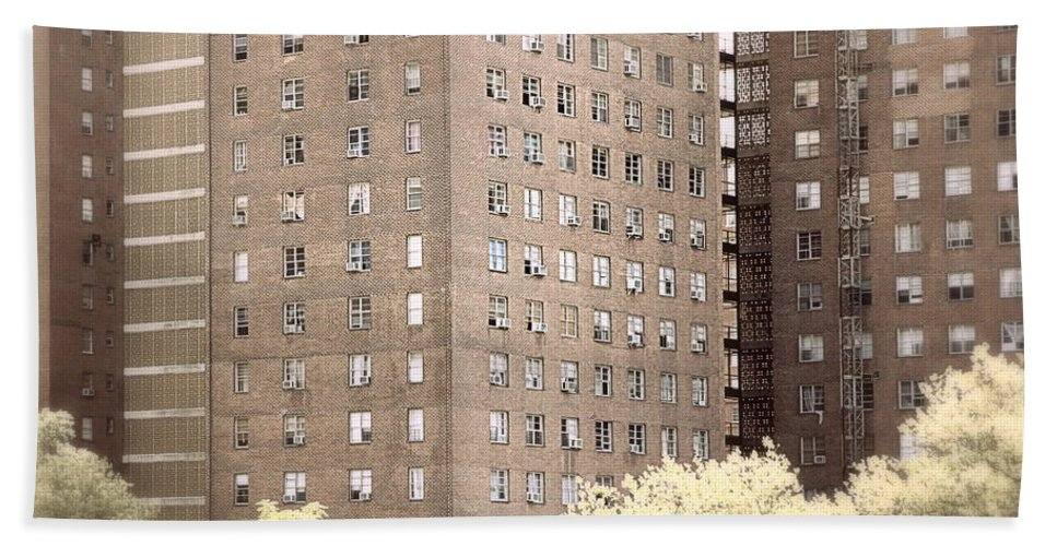 Nyc Hand Towel featuring the photograph New York Public Housing by Valentino Visentini