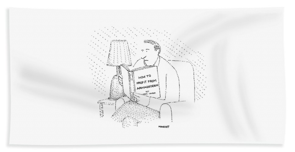 Writing Hand Towel featuring the drawing New Yorker May 4th, 1981 by Robert Mankoff