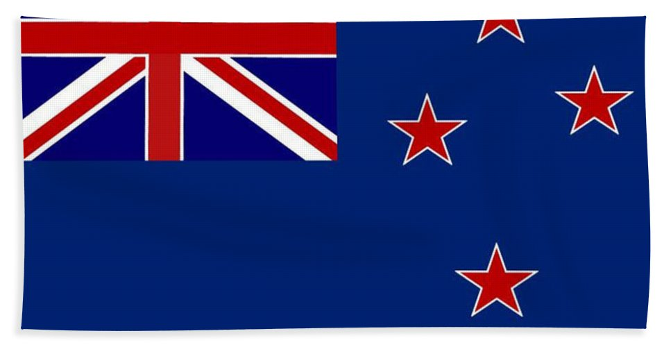New Zealand Hand Towel featuring the digital art New Zealand Flag by Frederick Holiday