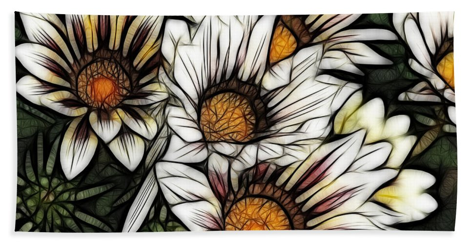 Colorful Bath Sheet featuring the photograph New Zealand Flowering Beauties by Bob Christopher
