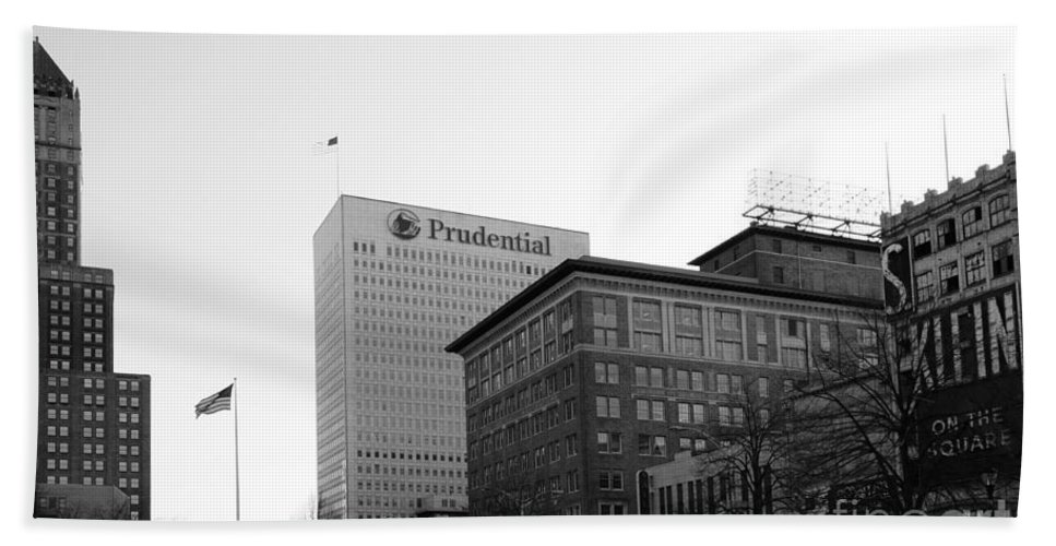 Paul Ward Hand Towel featuring the photograph Newark New Jersey In Black And White by Paul Ward