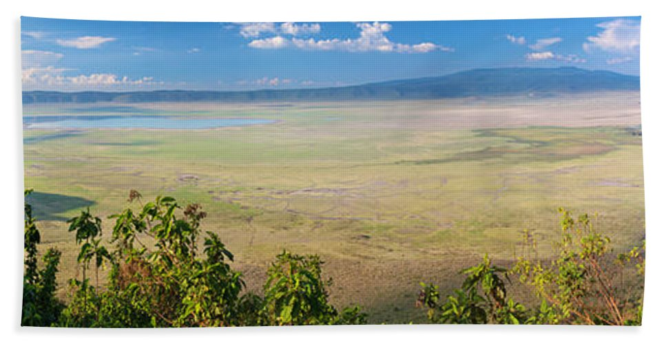 Africa Bath Sheet featuring the photograph Ngorongoro Crater In Tanzania Africa by Michal Bednarek