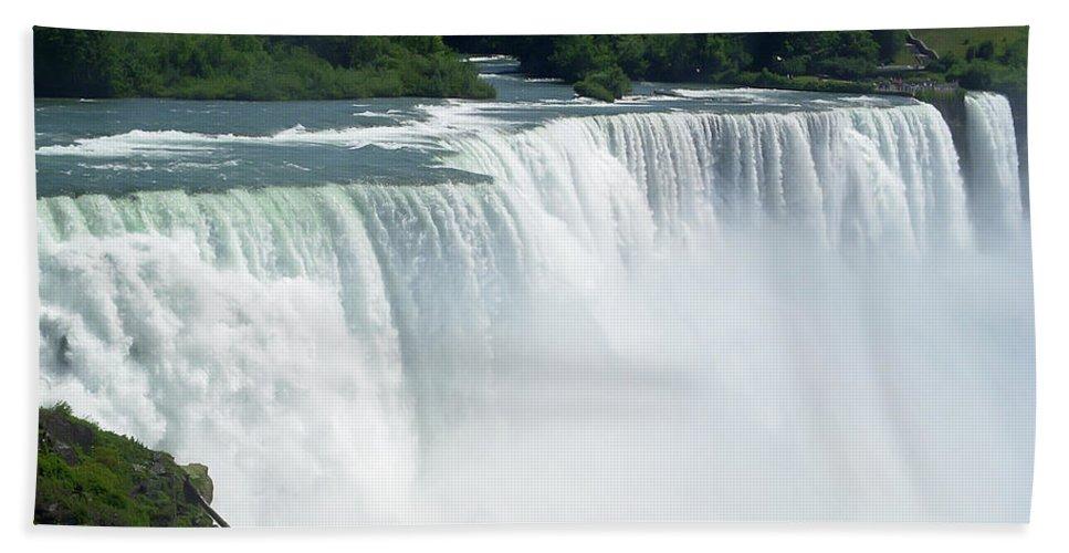 Niagara Falls Hand Towel featuring the photograph Niagara Falls 12 by Aimee L Maher ALM GALLERY