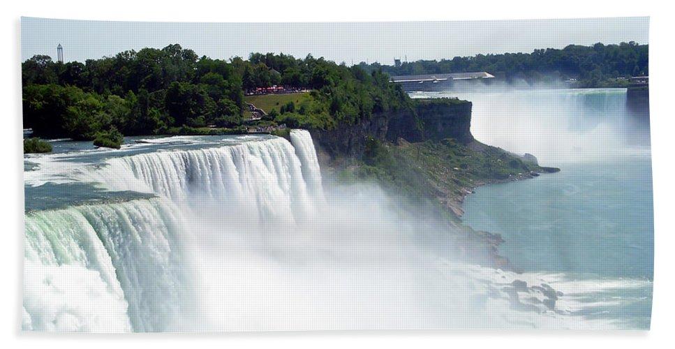 Niagara Falls Hand Towel featuring the photograph Niagara Falls 2 by Aimee L Maher ALM GALLERY
