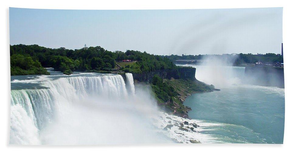 Niagara Falls Hand Towel featuring the photograph Niagara Falls 4 by Aimee L Maher ALM GALLERY