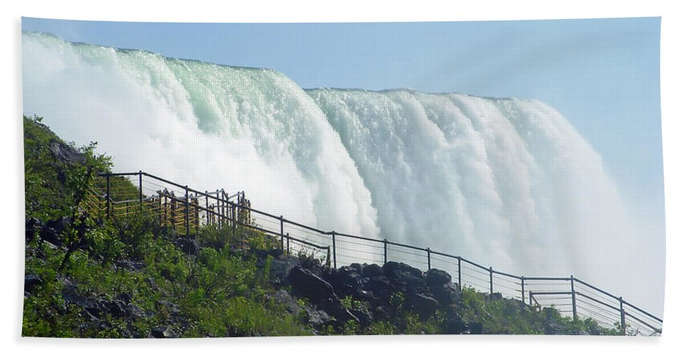 Niagara Falls Hand Towel featuring the photograph Niagara Falls 9 by Aimee L Maher ALM GALLERY