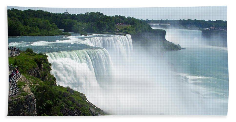 Niagara Falls Hand Towel featuring the photograph Niagara Falls by Aimee L Maher ALM GALLERY