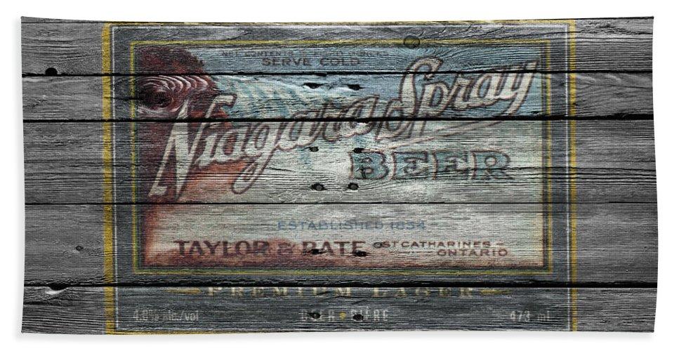 Niagara Spray Hand Towel featuring the photograph Niagara Spray Beer by Joe Hamilton