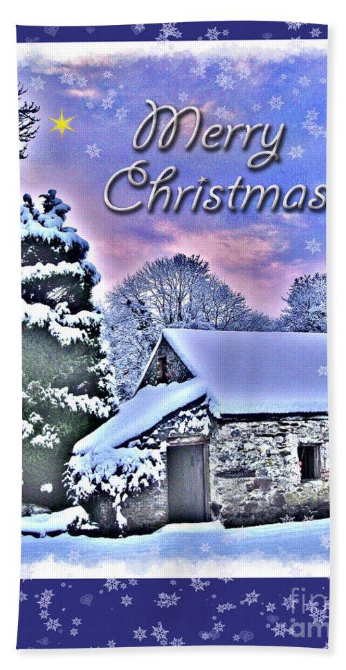 Christmas Hand Towel featuring the photograph Christmas Card 28 by Nina Ficur Feenan