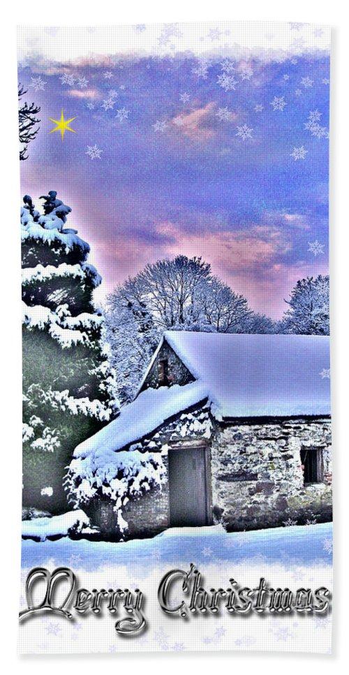 Christmas Hand Towel featuring the photograph Christmas Card 27 by Nina Ficur Feenan