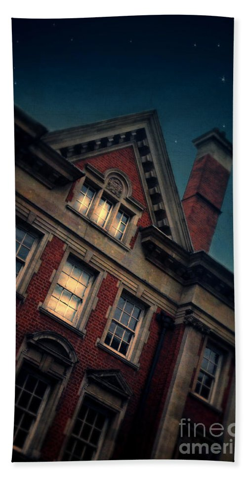 Architecture Hand Towel featuring the photograph Night Building by Jill Battaglia