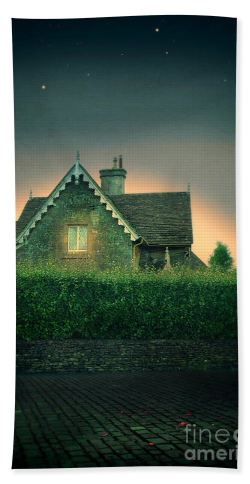 Wall Hand Towel featuring the photograph Night Cottage by Jill Battaglia