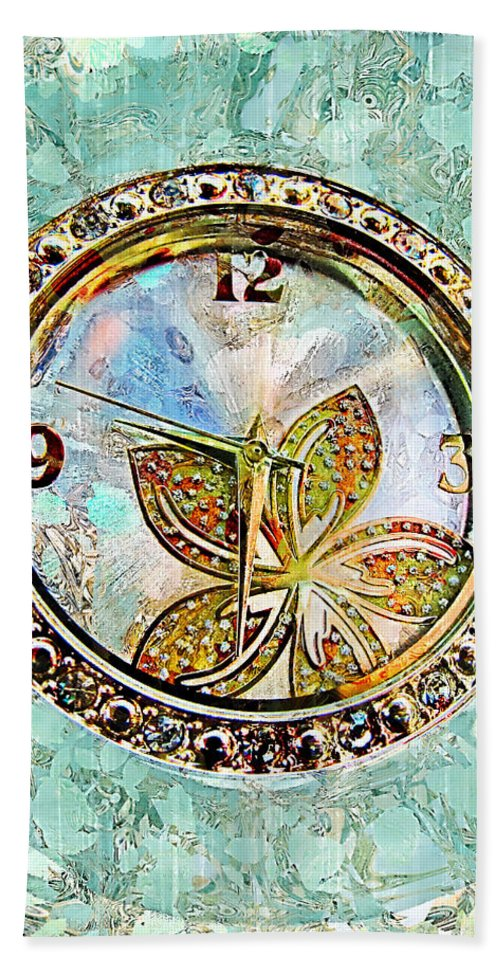Clock Bath Sheet featuring the photograph Nine Thirty Two Art by Debbie Portwood