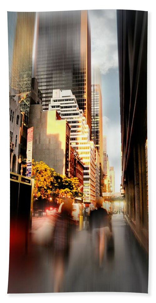 New York City Bath Sheet featuring the photograph Nine To Five by Diana Angstadt