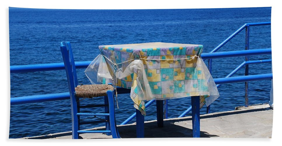 Nisyros Hand Towel featuring the photograph Nisyros Taverna by David Fowler