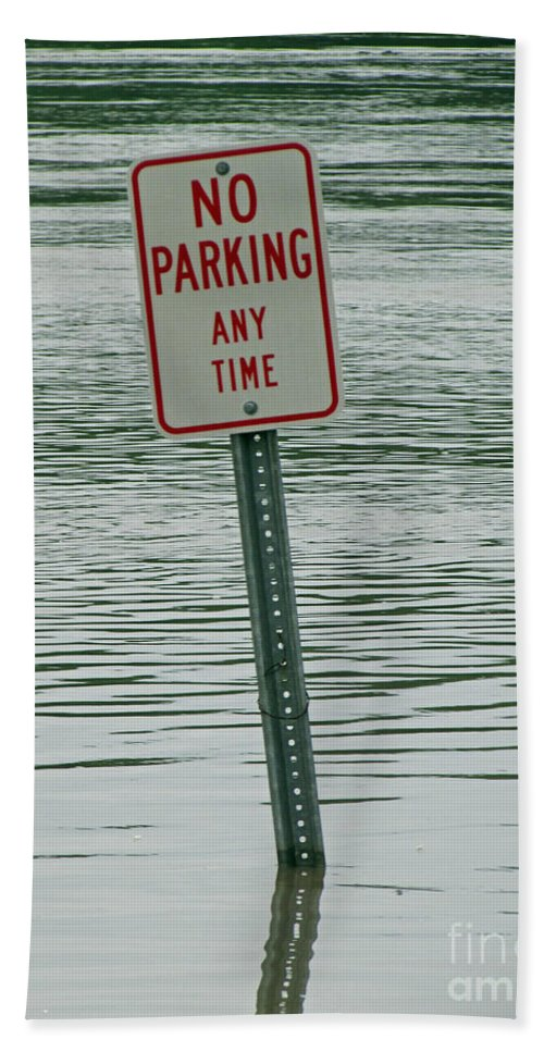 River Bath Sheet featuring the photograph No Parking by Jamie Smith
