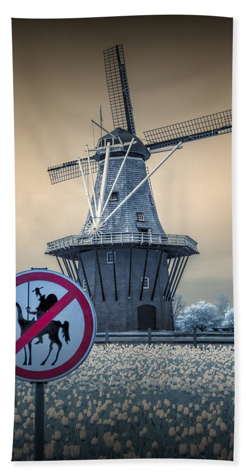 Landscape Bath Sheet featuring the photograph No Tilting At Windmills by Randall Nyhof