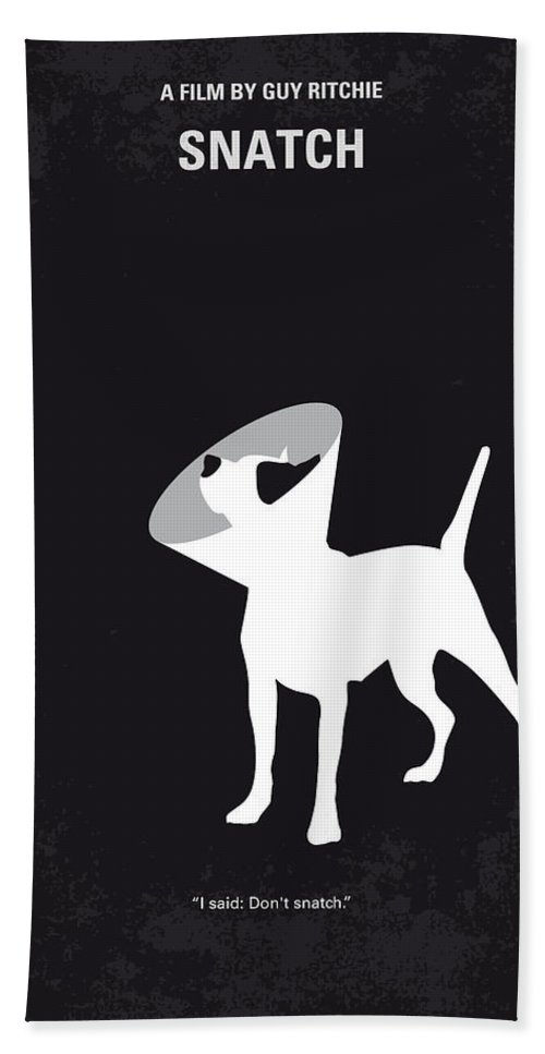 Snatch Bath Towel featuring the digital art No079 My Snatch minimal movie poster by Chungkong Art
