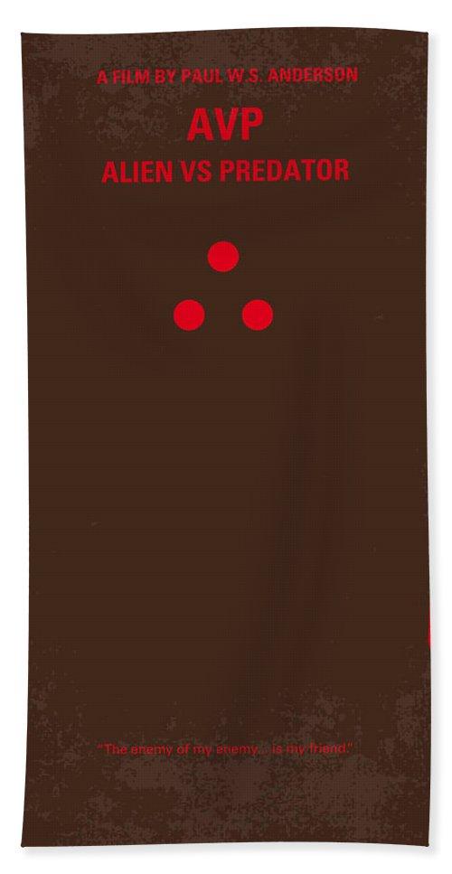 Avp Bath Towel featuring the digital art No148 My Avp Minimal Movie Poster by Chungkong Art