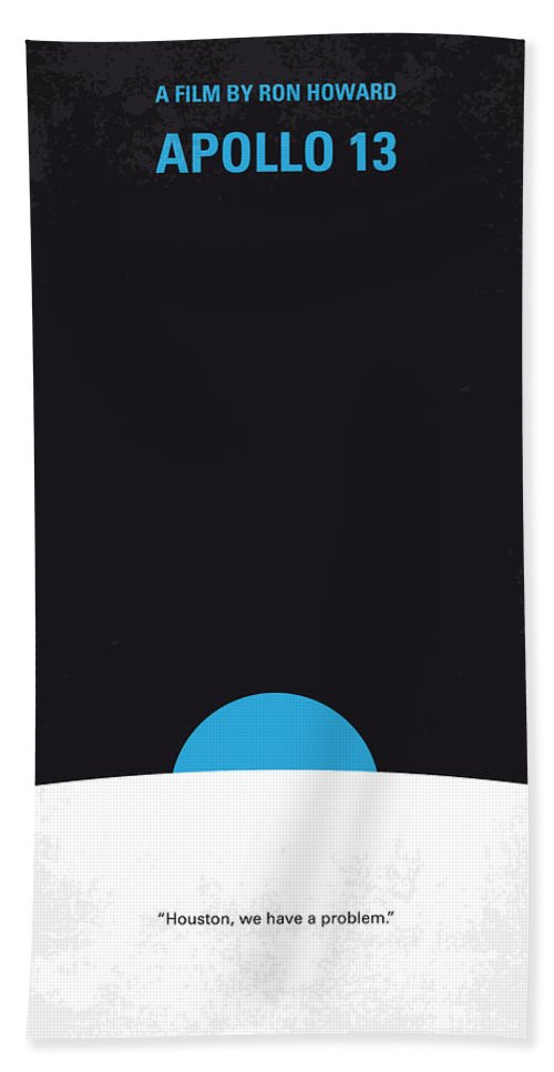 Apollo Hand Towel featuring the digital art No151 My Apollo 13 Minimal Movie Poster by Chungkong Art