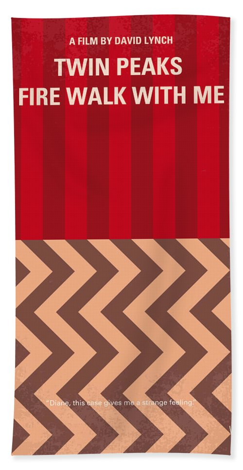 Fire Hand Towel featuring the digital art No169 My Fire Walk With Me Minimal Movie Poster by Chungkong Art