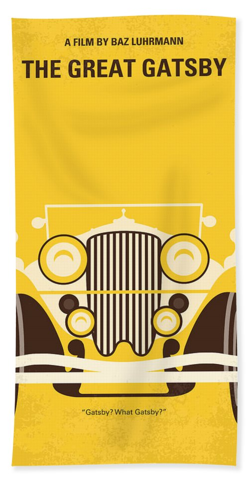 The Bath Towel featuring the digital art No206 My The Great Gatsby minimal movie poster by Chungkong Art