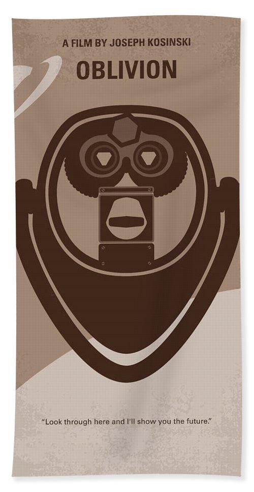 Oblivion Bath Towel featuring the digital art No217 My Oblivion Minimal Movie Poster by Chungkong Art