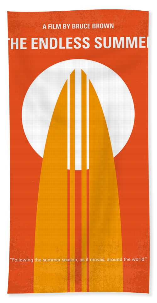 Endless Bath Towel featuring the digital art No274 My The Endless Summer minimal movie poster by Chungkong Art