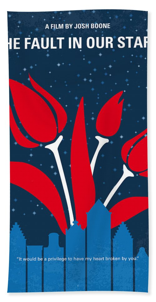 The Bath Towel featuring the digital art No340 My The Fault In Our Stars Minimal Movie Poster by Chungkong Art