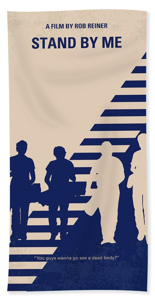 Stand Hand Towel featuring the digital art No429 My Stand By Me Minimal Movie Poster by Chungkong Art