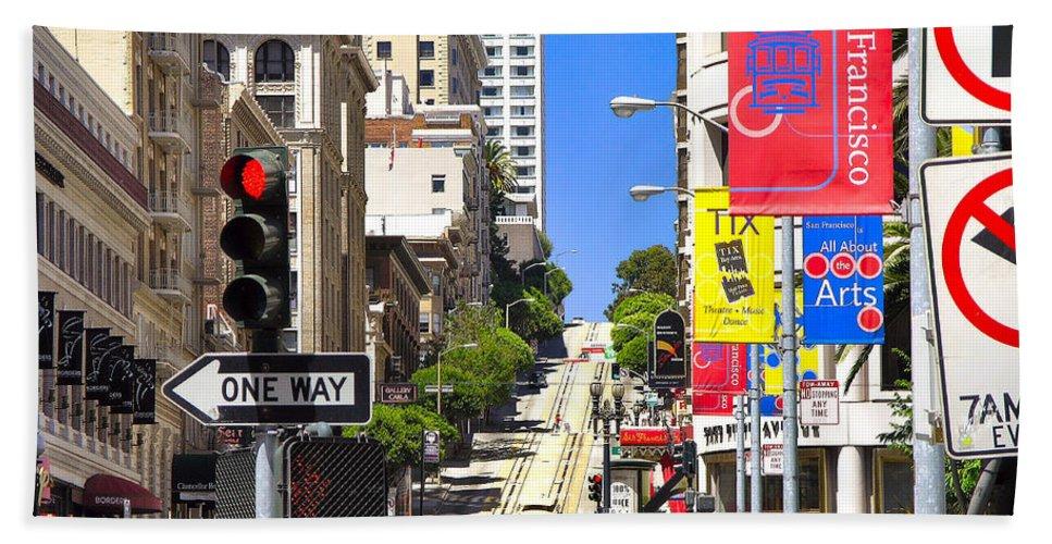 Downtown Bath Sheet featuring the photograph Nob Hill - San Francisco by John Waclo